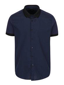 Cămașă albastru închis Burton Menswear London cu mâneci scurte