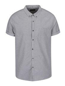 Šedá košile s jemným vzorem a krátkým rukávem Burton Menswear London