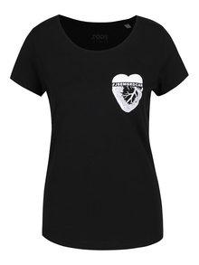 Černé dámské tričko ZOOT Originál Srdcař