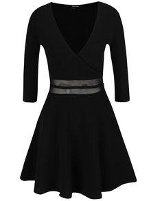 Černé šaty s průsvitným pasem TALLY WEiJL