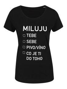 Černé dámské tričko ZOOT Originál Miluju