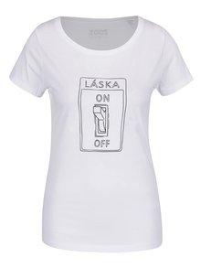 Biele dámske tričko ZOOT Originál On off