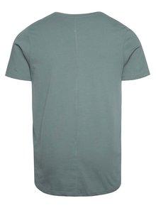 Sivozelené basic tričko Jack & Jones Hugo