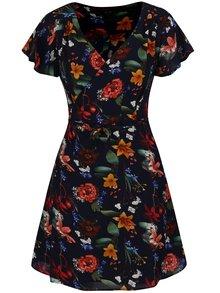 Tmavě modré květované zavinovací šaty AX Paris