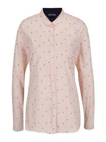 Ružová dámska vzorovaná košeľa Tommy Hilfiger