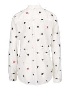 Krémová košeľa s potlačou hviezd Scotch & Soda