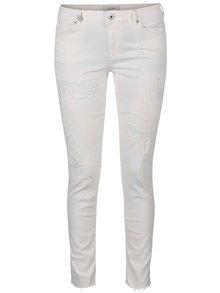 Krémové skinny džíny s potrhaným efektem Maison Scotch