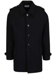Čierny kabát s prímesou vlny Selected Homme Geneve