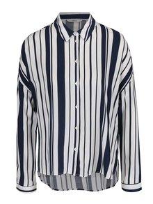 Krémová pruhovaná košeľa ONLY Zafran