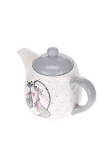 Krémová konvička na čaj s motivem koček Dakls