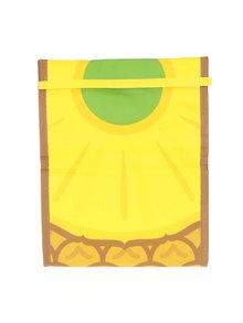Žlutý svačinový sáček s potiskem ananasu Mustard