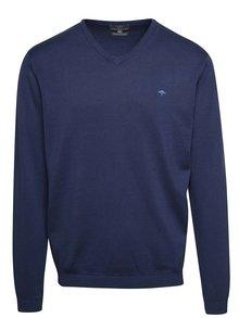Modrý sveter s véčkovým výstrihom Fynch-Hatton