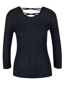 Bluză bleumarin Haily's Jenny cu detaliu încrucișat