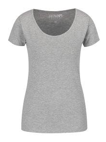 Světle šedé basic tričko s krátkým rukávem Haily's Mona