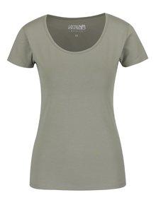 Světle zelené basic tričko s krátkým rukávem Haily's Mona