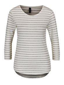 Bluză crem&negru Haily's Tina cu model în dungi