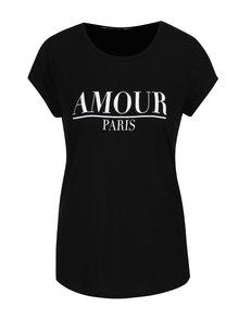 Čierne tričko s potlačou Dorothy Perkins Petite