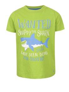 Světle zelené klučičí triko s potiskem žraloka Tom Joule