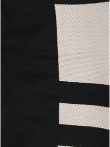 Černo-krémový pruhovaný kabát French Connection Escher