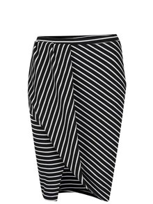 Bielo-čierna pruhovaná polodlhá sukňa Miss Selfridge