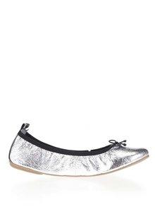 Balerini argintii Tamaris cu aspect peliculizat și detaliu