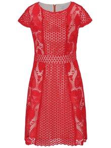 Rochie roșie Wolf&Whistle din dantelă