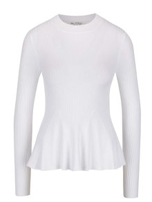 Bluză albă Miss Selfridge cu terminație evazată