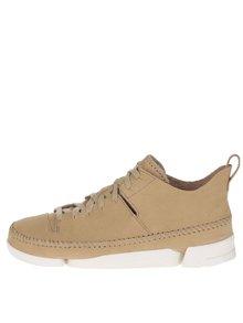 Béžové pánske semišové členkové topánky Clarks Trigenicflex