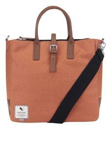 Oranžová pánska taška s koženými detailmi Clarks The Gray