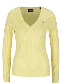 Žltý dámsky sveter GANT Cable