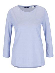 Modré dámske tričko s 3/4 rukávom GANT Pique