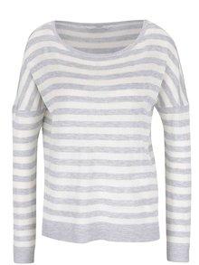 Krémovo-sivý sveter ONLY Love