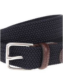 Tmavě modrý pánský  pásek GANT Elastic