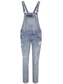 Modré rifľové nohavice s trakmi Only Kim