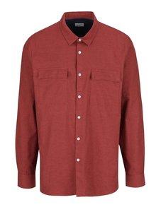 Cămașă roșu melanj Burton Menswear London din bumbac