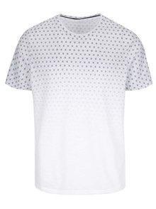 Biele vzorované tričko Burton Menswear London