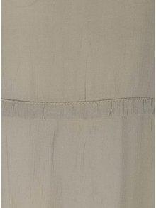 Khaki halenka s dlouhými rukávy VILA Sazzina