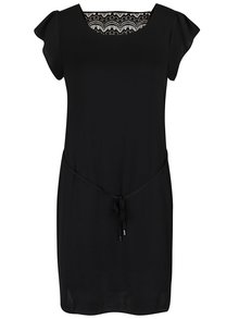 Černé šaty s krajkovou vsadkou na zádech VILA Melli