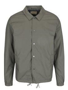 Jachetă verde deschis Selected Homme Coach din bumbac cu guler ascuțit