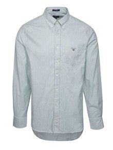 Krémovo-zelená pánská košile GANT Comfort