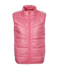 Ružová dievčenská prešívaná vesta name it Mylan