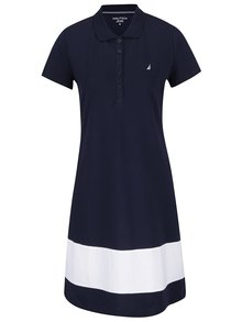 Krémovo-modré šaty s límečkem Nautica