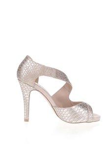 Sandálky v béžovo-stříbrné barvě Miss KG