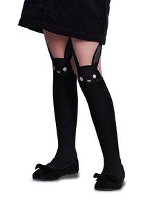 Ciorapi roz & negru Penti Bunny 30 DEN cu model
