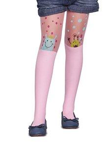 Růžové holčičí punčocháče s puntíky Penti Caroline 30 DEN