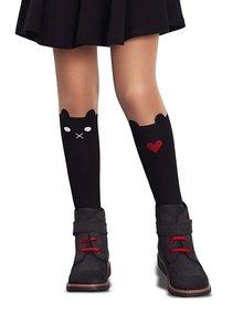 Telovo-čierne dievčenské pančuchy s motívom mačky Penti Sweet 30 DNÍ