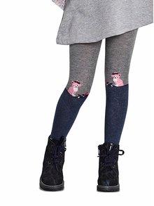 Ciorapi albastru & gri Penti Tilki cu model pentru fete