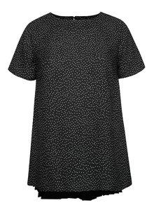 Černý puntíkovaný top Dorothy Perkins Curve