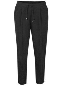 Pantaloni negri VERO MODA Tensa cu aspect de catifea