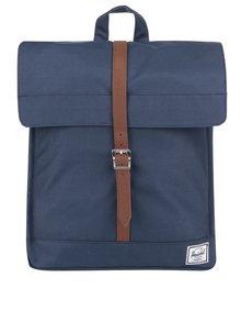 Tmavomodrý batoh s hnedým popruhom Herschel City 10,5 l